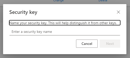 Name the security key