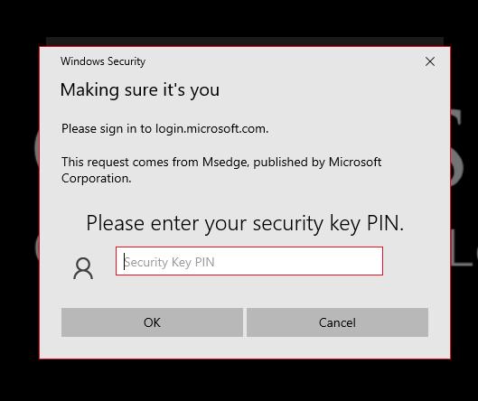 Security key test