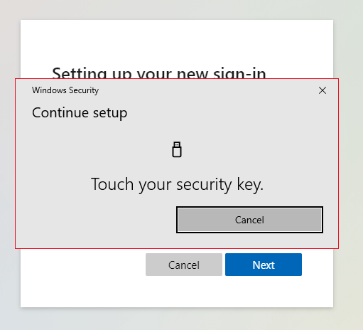 Touch security key device
