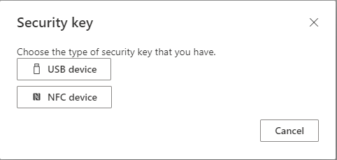Security key type